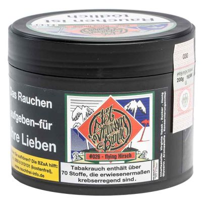 187 Tobacco - #026 - flying Hirsch - 200g